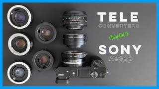 Using Teleconverters with Adapted Vintage Lenses on the Sony A6000(What's up everybody! Check out this quick video tutorial showing how to use old teleconverters with adapted vintage lenses on the Sony A6000. Wouldn't it be ..., 2016-10-24T23:00:01.000Z)