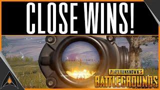 BATTLEGROUNDS CLOSE WINS! | Player Unknown Battlegrounds Gameplay
