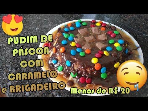 COMO FAZER PUDIM DE PASCOA COM RECHEIO DE BRIGADEIRO | Como Fazer Fácil #Receitas 28