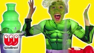 Elsa Turns Into Hulk - Chocolate Fountain Prank - Princesses In Real Life | WildBrain Kiddyzuzaa