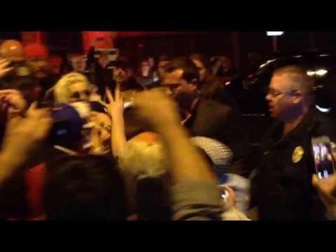 Lady Gaga arriving to Stubbs for SXSW!