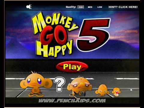 Счастливая обезьянка 5 | Monkey go happy игра