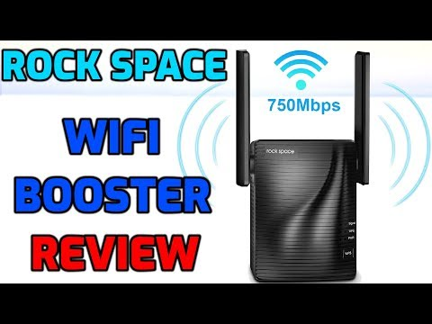 WIFI RANGE  EXTENDER REVIEW - DO THEY WORK? ROCK SPACE 750  Test