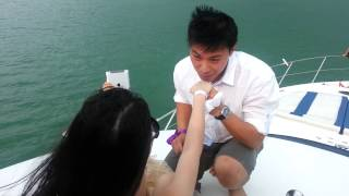 Repeat youtube video ♥010113♥The marriage proposal on the yacht♥Lavender & Yung Hung♥