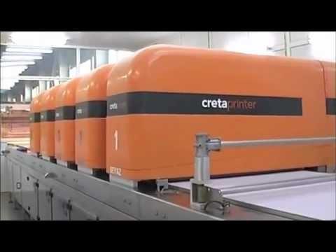 Efi Cretaprint Machine Printing 3 5 Meter Tiles Youtube
