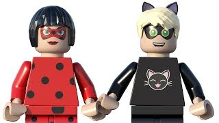 LEGO Miraculous Ladybug & LEGO Chat Noir Coloring Pages