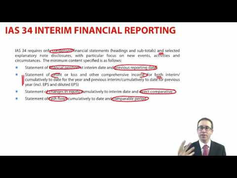 CIMA F1 IAS 34 Interim Financial Reporting