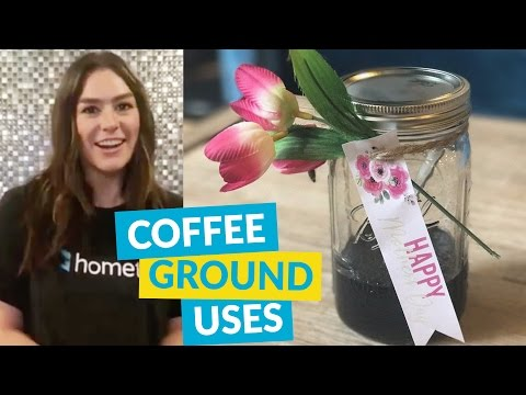 4 Leftover Coffee Grounds Ideas!
