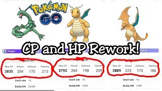 New CP and HP Rework Stats In Pokemon GO!