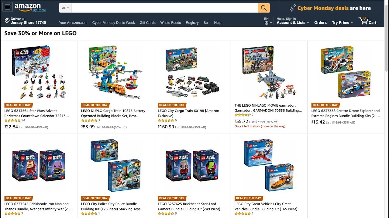 Last Minute Cyber Monday Lego Deals Youtube