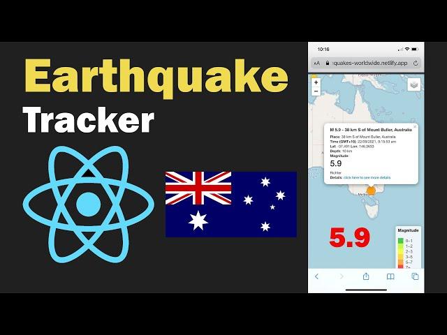 Earthquake Tracker ReactJS