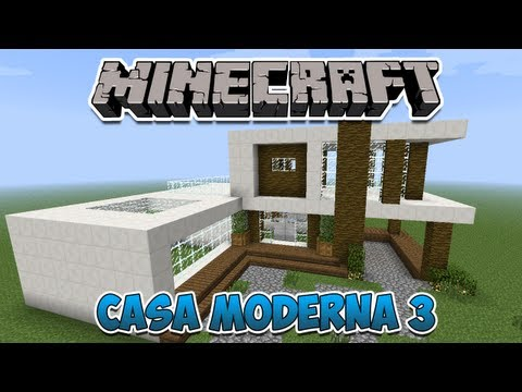 Minecraft construindo uma casa moderna parte 1 doovi for Casa moderna minecraft tutorial