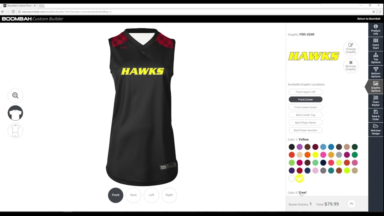 677f34e1173e Women s Custom Basketball Uniform Builder - Boombah INK - YouTube