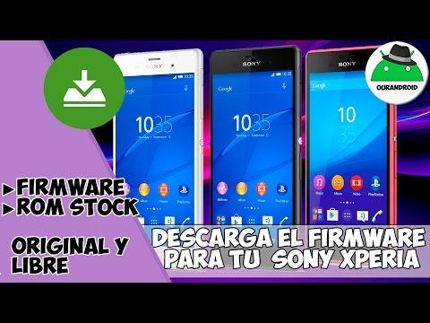 Descarga el firmware - Rom Stock - De cualquier Sony Xperia Original ► Fácil Bien Explicado  ◄