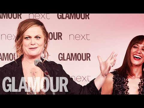 Amy Poehler Takes the Piss Out of Donald Trump  Women of the Year Awards 2017  Glamour UK