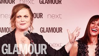 Amy Poehler Takes the Piss Out of Donald Trump | Women of the Year Awards 2017 | Glamour UK