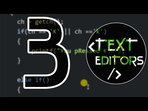 TOP 3 THE BEST TEXT EDITORS FOR CODING ( 2016 )