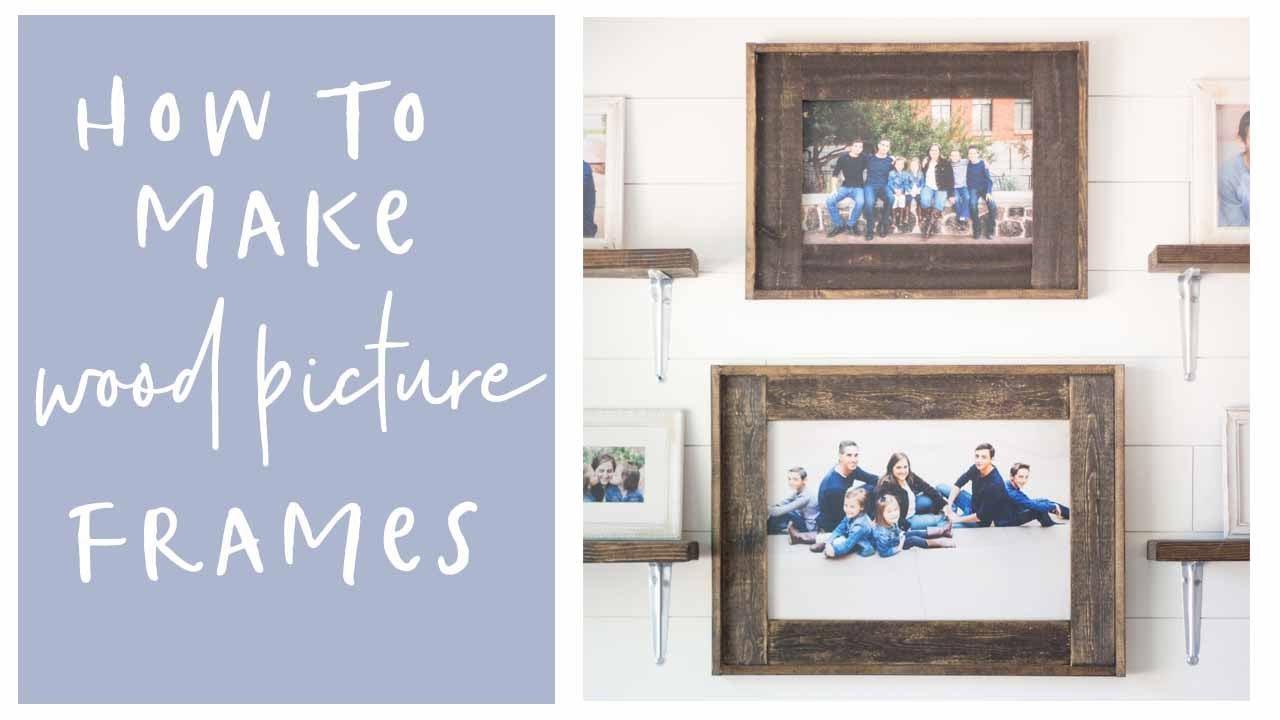 Diy Home Decor Wood Farmhouse Picture Frames Youtube