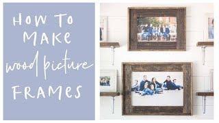 DIY Home Decor Wood Farmhouse Picture Frames Video