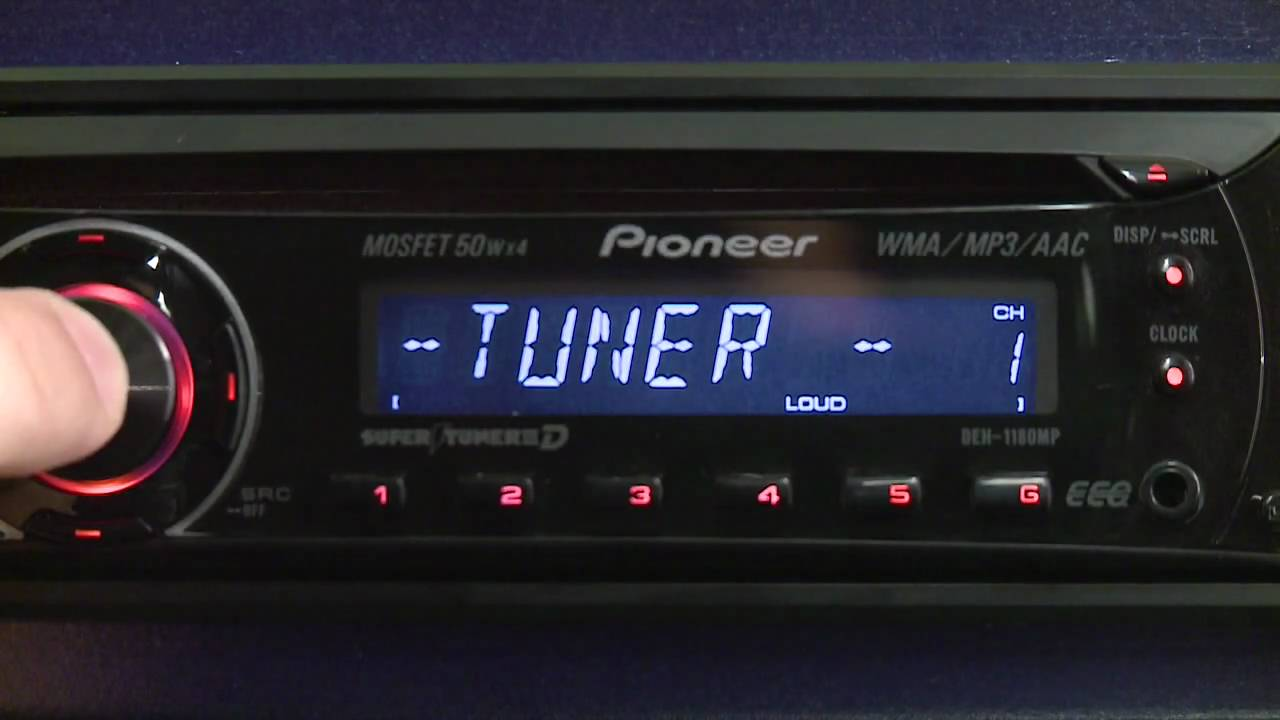 PIONEER CD PLAYER DEH1180MP  YouTube