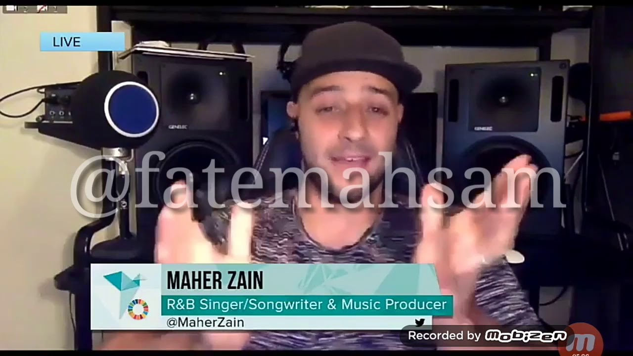 #globalpeoplesummit #maherzain live 2018from he's studio in Swededen. ماهر زين جديد 2018