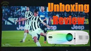 Alfawise X 3200 Lumens HD 1080P Suport de projectors intel·ligent 4K: Unboxing i revisió