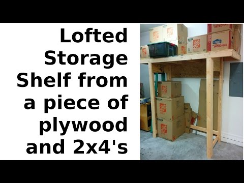 i-built-a-lofted-shelf-from-a-sheet-of-plywood-&-2x4's