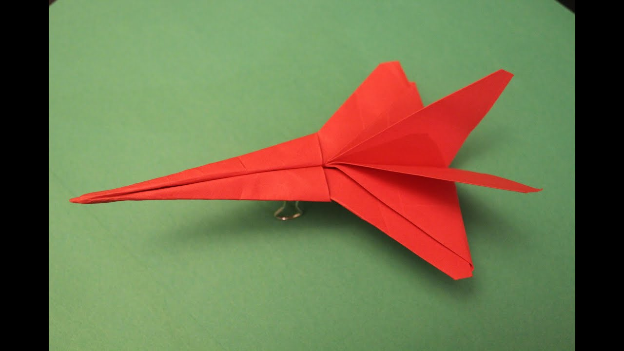 how to make a crossbow origami paper plane tutorial youtube