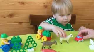 Мультики про машинки Вилли на ферме Домашние животные для детей: учим названия и голоса животных