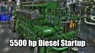 ABC Diesel Engine Startup Tugboat 5500 Horsepower