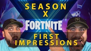 My Kids First Impressions - Battle Pass Walk through for Fortnite Saison 10