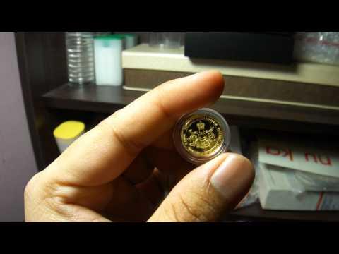 1/2 Dinar Kelantan KGT Gold Coin.
