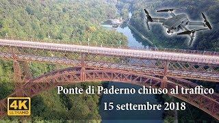 Ponte di Paderno chiuso al traffico 4k drone