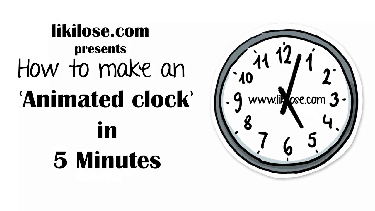 How to make an Animated Clock by PNG - YouTube - photo#16