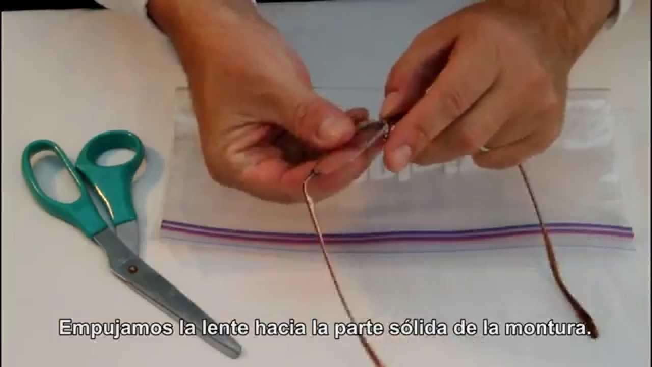 Cómo reinsertar las lentes en monturas semi al aire o medias ...