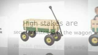 Childrens Ride On | John Deere  36 Steel Wagon With Wooden Stake Sides