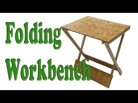 How To Make A Folding Table / Woodworking Project