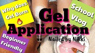 Easy Gel Application - Beginner Friendly || School Vlog 12