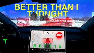 Tesla's Self Driving Beta 10 is Better Than I Thought! | FSD Beta 2020.48.35.1