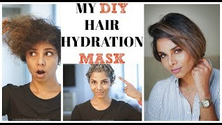HOW I FIX MY DRY HAIR AT HOME/ HAIR PACK DIY (2018)
