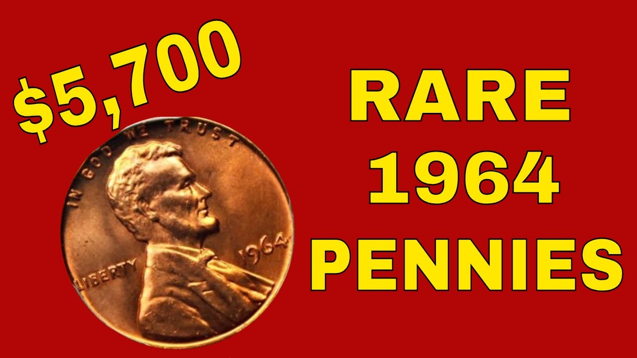Rare 1964 pennies worth money! Valuable pennies to look for!