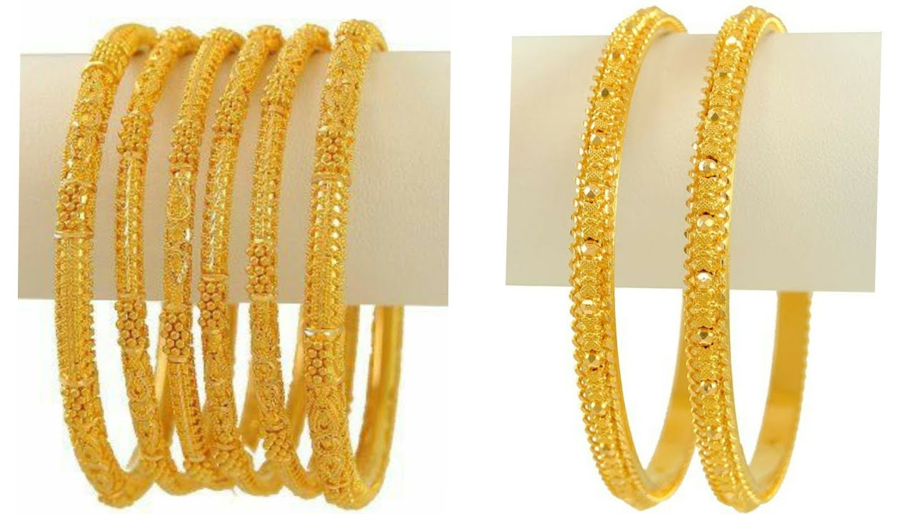 Latest 70+ Beautiful 4Gram Gold Bangles Images And Designs