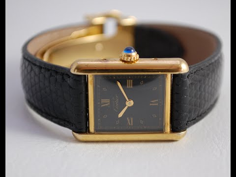 1994 Ladies Must De Cartier Vintage Watch With Box And Papers