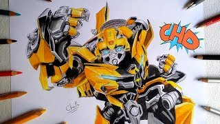 "DIBUJANDO A BUMBLEBEE ""TRANSFORMERS THE LAST KNIGHT/ DRAWING BUMBLEBEE"
