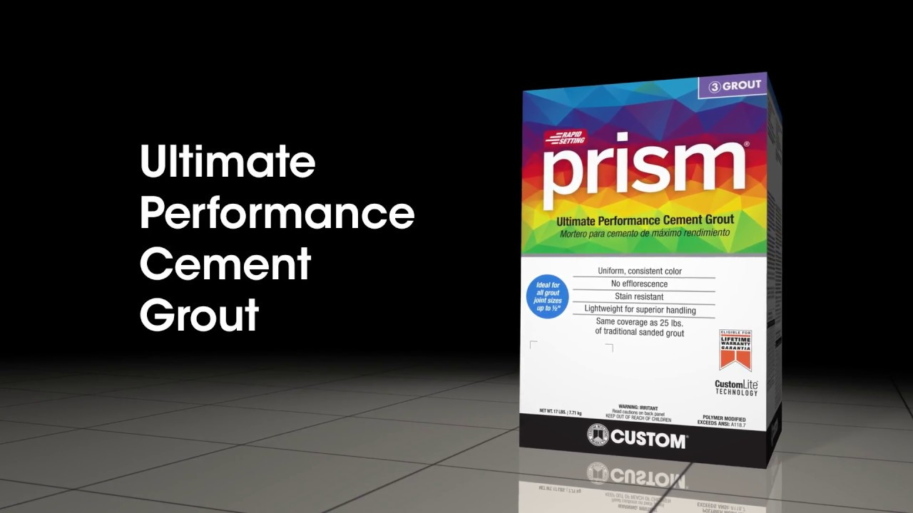 Prism Ultimate Performance Cement Grout The Versatile Go To Grout - Best non sanded grout
