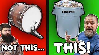We Made a Drum Set out of JUNK - Stephen Taylor & rdavidr