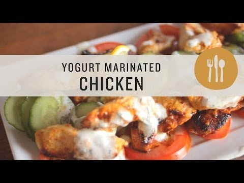 Superfoods - Yogurt Marinated Chicken with Creamy Greek Inspired Sauce