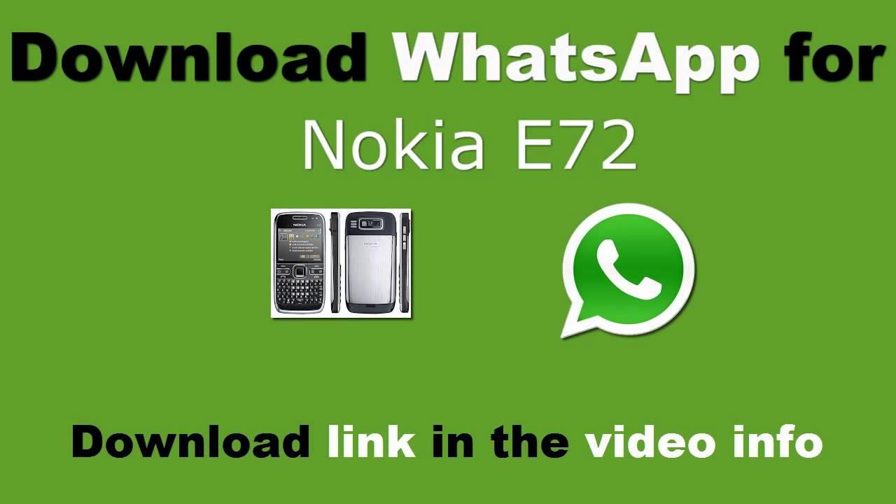 whatsapp sur nokia e72