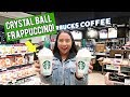 WE TRIED THE CRYSTAL BALL FRAPPUCCINO! (STARBUCKS)
