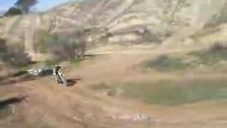 Ben Kremer 3rd gear pinned dirt bike jump Beaumont California